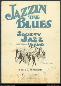 """Stoneham, Reginald A.A. """"Jazzin' The Blues."""" Photo. Digital Collections Music.1920-1929. 2 July 2013. ."""