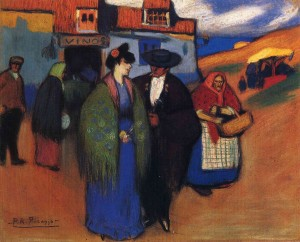 a-spanish-couple-in-front-of-inn-1900